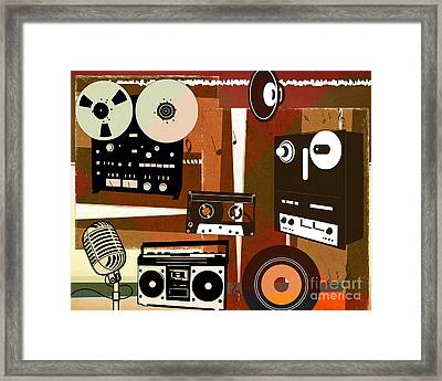 Once Upon Audio Framed Print by Bedros Awak