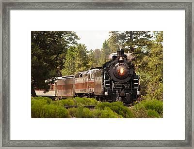 Oncoming Train Framed Print