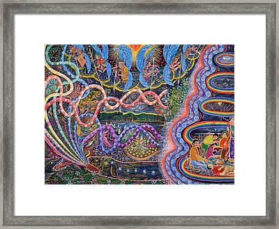 Ondas De La Ayahuasca Framed Print