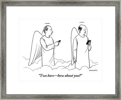 One Angel Speaking With Another Framed Print