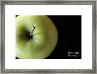 One Apple - Still Life Framed Print by Wendy Wilton