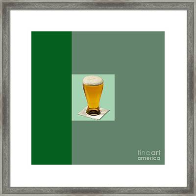 First Beer On The Wall Framed Print