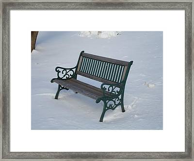 One Bench Framed Print by Jenna Mengersen