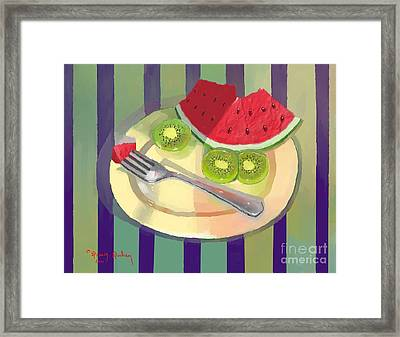 One Bite Of Watermelon Framed Print