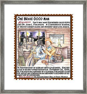 One Brave Good Man Framed Print by Warren Clark