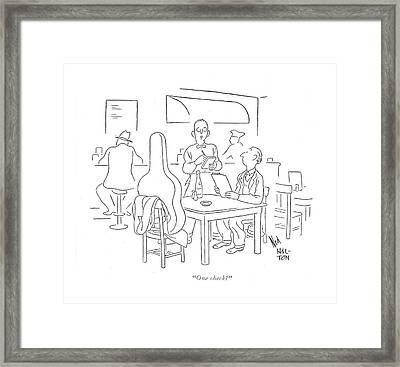 One Check? Framed Print by Ned Hilton