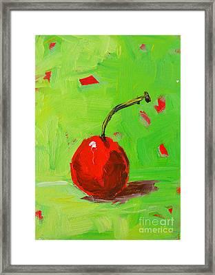 One Cherry Modern Art Framed Print