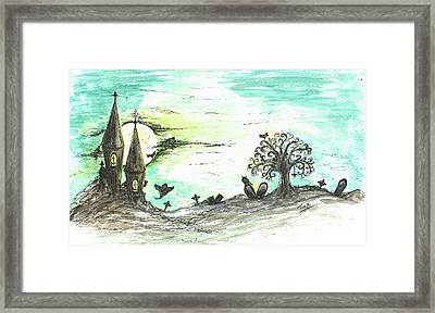 One Creepy Night Framed Print by Teresa White