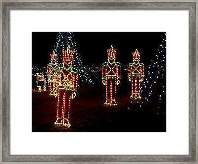 One Crooked Toy Soldier Framed Print