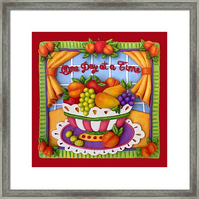 One Day At A Time Framed Print by Amy Vangsgard