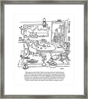 One Day At A Time Framed Print by George Booth