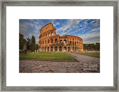 One Day In Rome Framed Print by Maria Feklistova