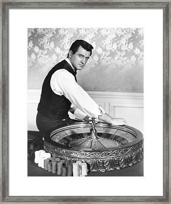 One Desire, Rock Hudson, 1955 Framed Print