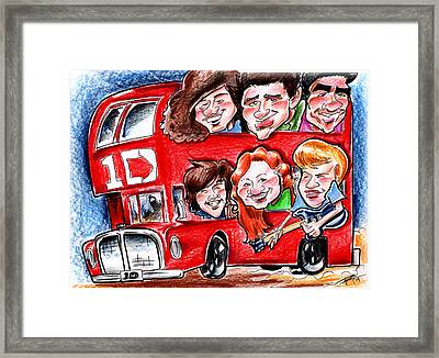 One Direction Framed Print by Big Mike Roate