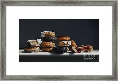 One Dozen Donuts Framed Print by Larry Preston