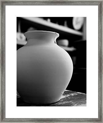 One Earthenware Jug  Framed Print