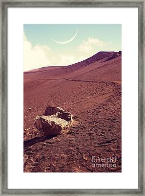 One Fine Day On The Red Planet Framed Print by Edward Fielding