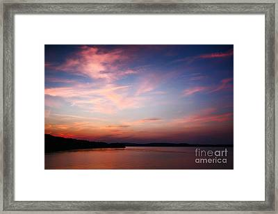 Framed Print featuring the photograph One Fine Sunset by Polly Peacock