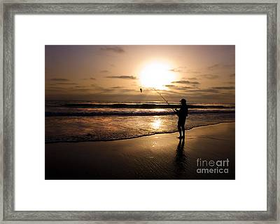 One Fish Only Framed Print by Angelika Drake