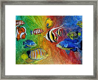 One Fish Two Fish Framed Print by Liz Borkhuis