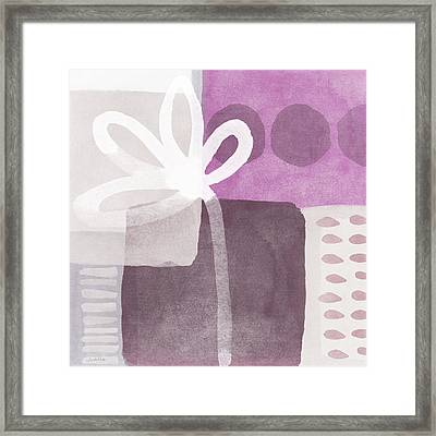 One Flower- Contemporary Painting Framed Print by Linda Woods