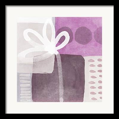 Purple Orchids Framed Prints