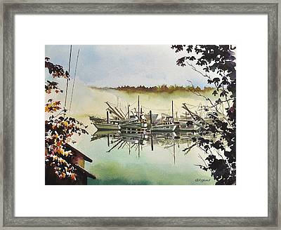 Gig Harbor Foggy Morning View Framed Print