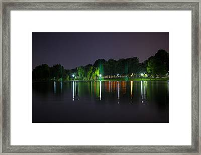 One Foot Lake Framed Print by Michael Williams