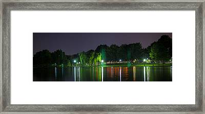 One Foot Lake Panorama Framed Print by Michael Williams