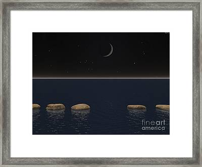One Giant Leap For Mankind Framed Print by Phil Perkins