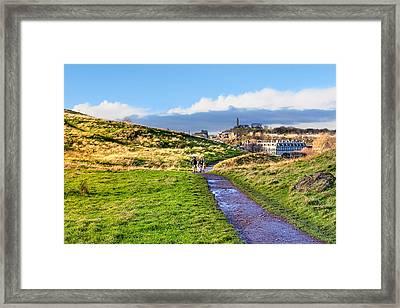 One Golden Day In Edinburgh's Holyrood Park Framed Print by Mark E Tisdale
