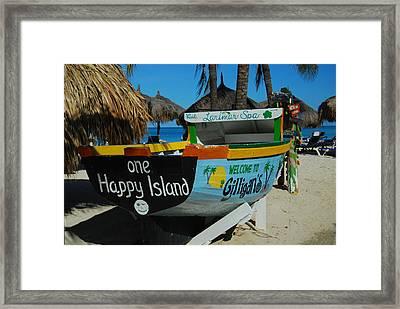 One Happy Island Framed Print
