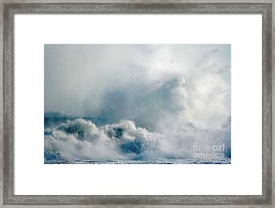 One Heck Of A Wave  Framed Print