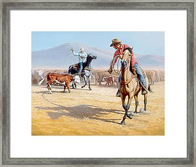 One Heel Framed Print