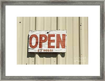 One Hour Lunch Framed Print