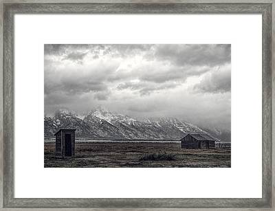 One Hundred Feet To The Out House Framed Print by Paul W Sharpe Aka Wizard of Wonders
