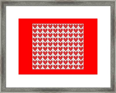 One Hundred Hearts Framed Print by Helena Tiainen
