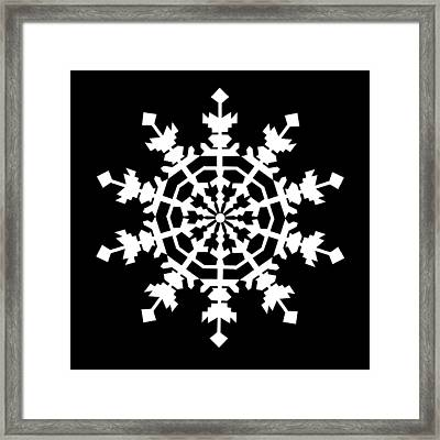 One Ice Crystal Inspired By An Ice Crystal Seen In An Electron Microscope Framed Print by Asbjorn Lonvig