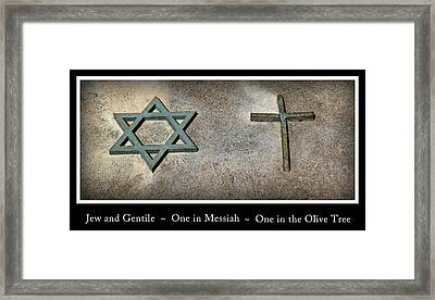 One In Messiah Framed Print by Tikvah's Hope