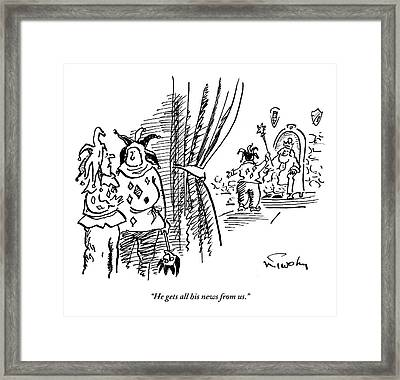 One Jester Speaks To Another As They Stand Framed Print