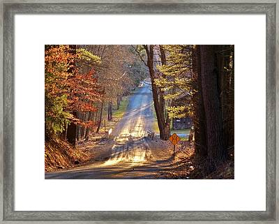One Lane Bridge Framed Print