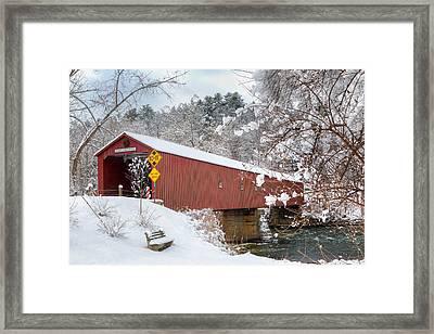 One Lane Bridge Framed Print