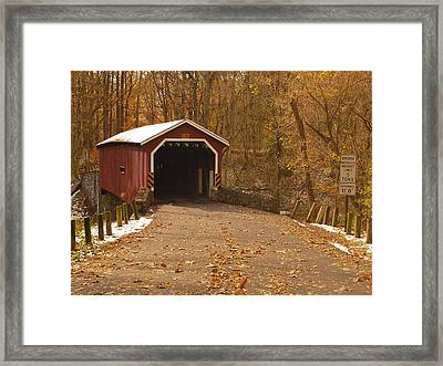Framed Print featuring the photograph One Lane Traffic by Bob Sample