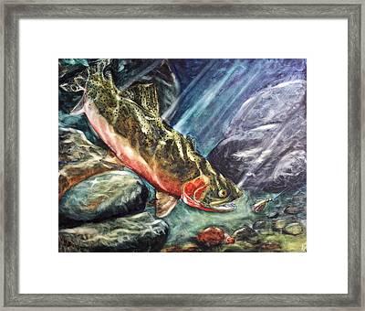 One Last Cast Framed Print by Mary C Farrenkopf