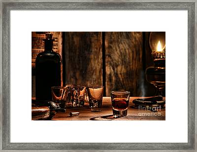 One Last Drink Framed Print by Olivier Le Queinec