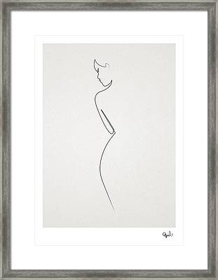 One Line Nude Framed Print