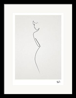 Abstract Nude Framed Prints