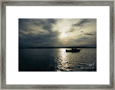 One Lonely Fisherman Framed Print by John Telfer