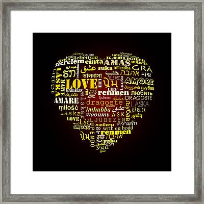 One Love  Framed Print by Mark Ashkenazi