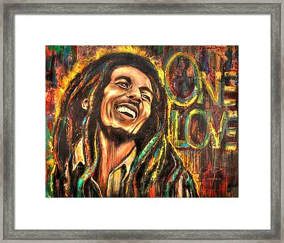 Bob Marley - One Love Framed Print